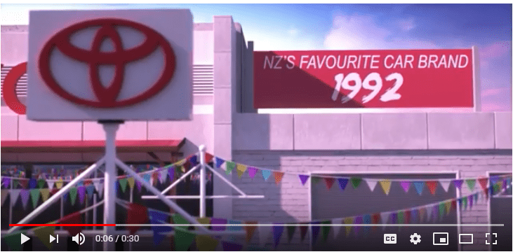 Toyota cumple 30 años en Nueva Zelanda y los conmemora así